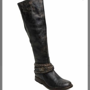 Bedstu Womens Black Lux Eva Leather Boot